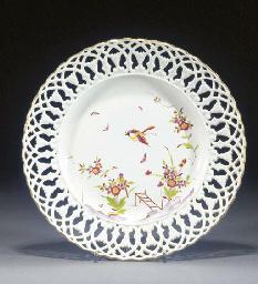 A German porcelain pierced-bor
