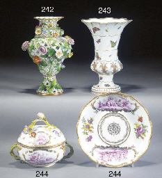 A Meissen reticulated vase