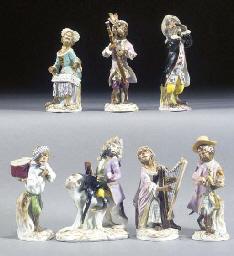 A Meissen and German porcelain