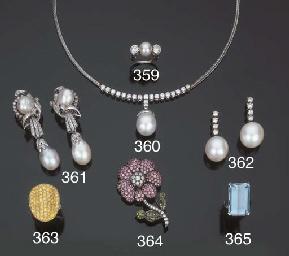 Anello con perla coltivata e b
