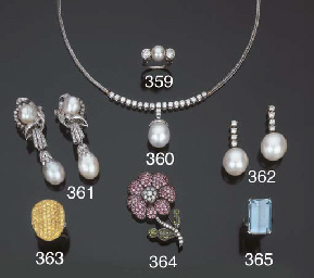 Girocollo con brillanti e perl