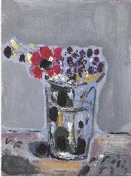 Bicchiere con fiori