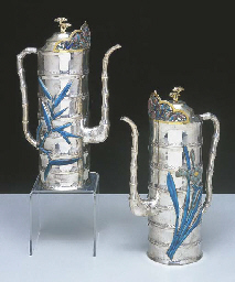 A PAIR OF CHINESE SILVER AND E