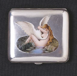 A CONTINENTAL ENAMELLED SILVER