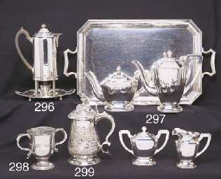 A CHINESE SILVER FOUR-PIECE TE