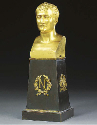 AN EMPIRE ORMOLU BUST OF NAPOL