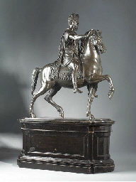 A BRONZE EQUESTRIAN MODEL DEPI