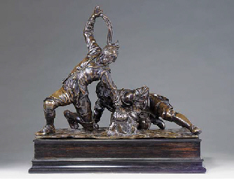 A BRONZE GROUP OF THE SACCOMAZ