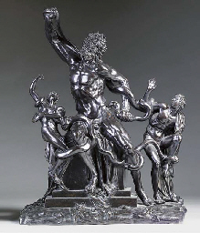 A BRONZE GROUP OF THE LAOCOÖN