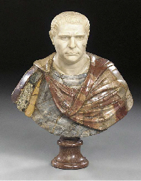 A MARBLE BUST OF A ROMAN EMPER