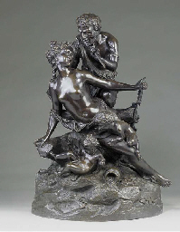 A BRONZE BACCHIC GROUP