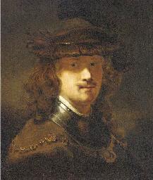 Portrait of Rembrandt, half-le