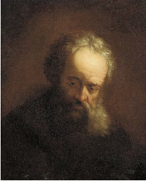 A tronie of an old man, bust-l