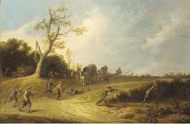 A dune landscape with bandits