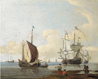 Dutch men'o-war and other ship
