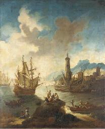 A Mediterranean port with fish