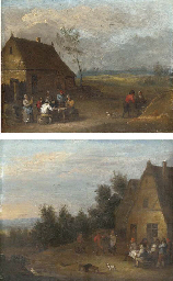 A landscape with peasants smok