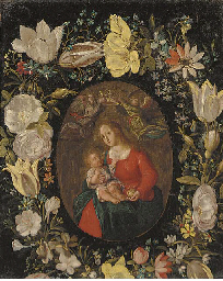 The Virgin and Child set in a