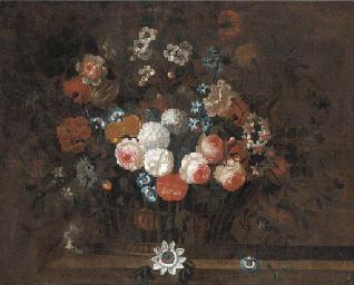 Roses, morning glory, narcissi
