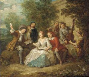 Elegant company playing music