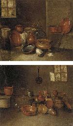 Copper pots, earthenware jugs,