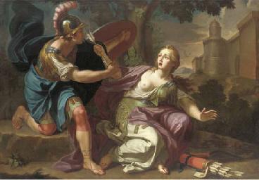 Armida restrained by Rinaldo