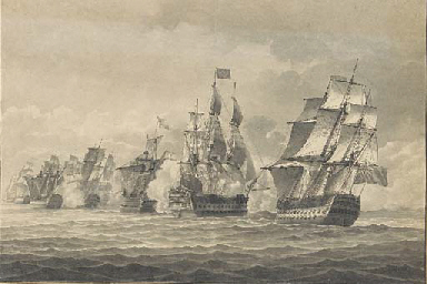 A naval engagement with a Brit