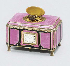 A Swiss silver and enamel sing