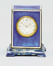 A Swiss silver, enamel and lap