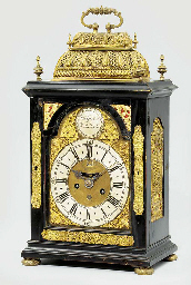 A Queen Anne ebonised and gilt