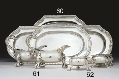 A SET OF FOUR GEORGE III SILVE