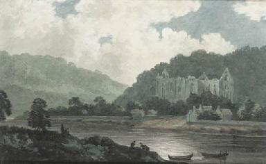 Tintern Abbey by moonlight