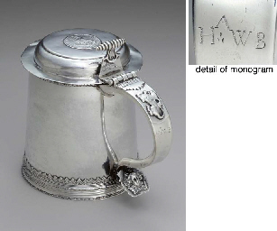 AN EXTREMELY RARE SILVER TANKARD