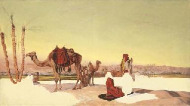 Arabs at Prayer in the Desert