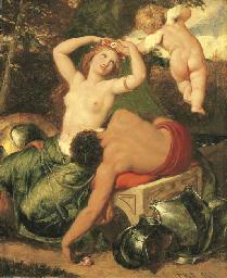 Mars and Venus, crowned by Cup