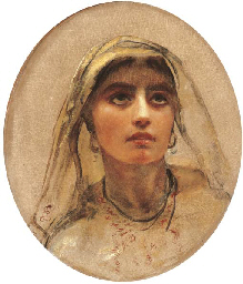 Study of the head of an Arab g