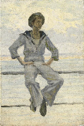 Study of a sailor, Newlyn, for