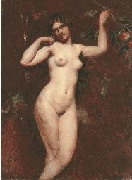 Female nude, three-quarter-len