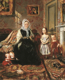 Group Portrait of Mrs Davies,