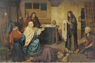 Pilgrims' prayers before Chris