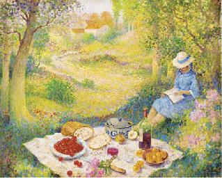 A good read at the picnic