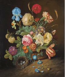 Irises, roses, tulips, peonies