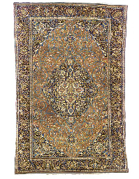 A fine Mochtashem Kashan rug,