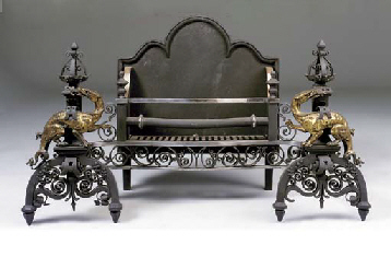 A large wrought and cast iron