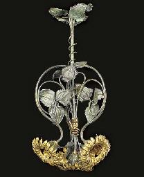 A French brass four light elec