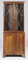 A mahogany bookcase, 19th cent