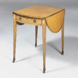 A George III satinwood oval an