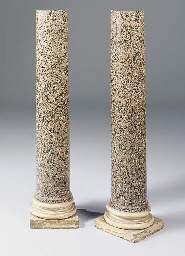 A pair of Victorian pink grani