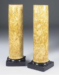 A pair of scagliola pedestals