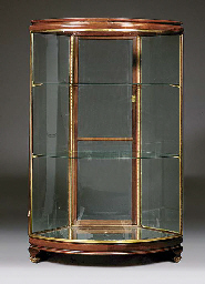 An Edwardian glazed display ca